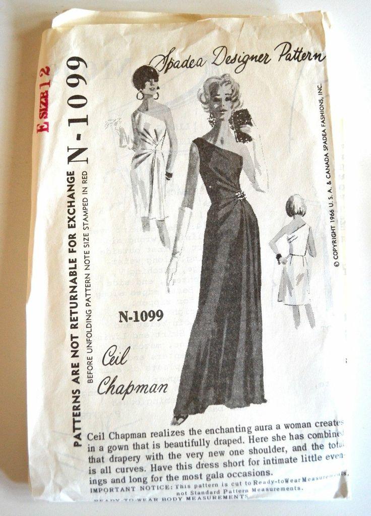 Vintage Spadea Designer Pattern Ceil Chapman Gown N 1099