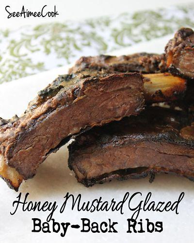 Honey Mustard Glazed Baby Back Ribs | Pork Recipes | Pinterest