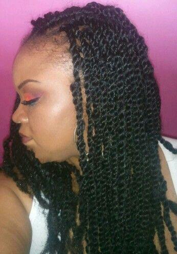 Crochet braid kinky twist My Natural Hair Pinterest