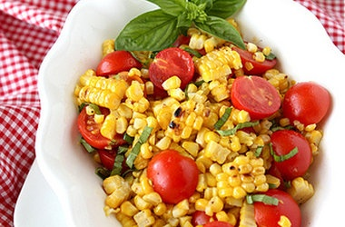 tomato and basil salad bread salad with corn cherry tomatoes basil ...