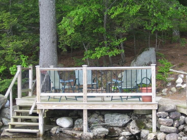 lakeside deck lets get our feet wet pinterest