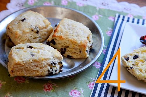 Orange and dark chocolate buttermilk scones from Joy the Baker.