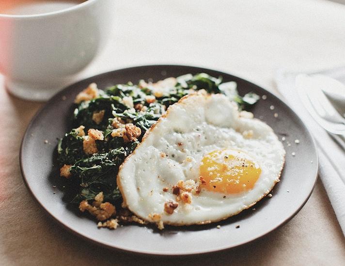 Sunny Eggs + Mustard-creamed Chard Recipe — Dishmaps