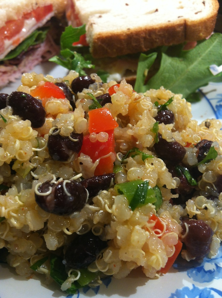 Southwest Quinoa Salad...Delish! I actually test many recipes on this ...