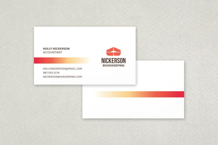 Gradient Line Business Card Template