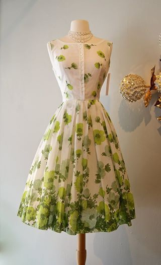 Vintage garden party dress fashion hair and make up for Garden party dresses