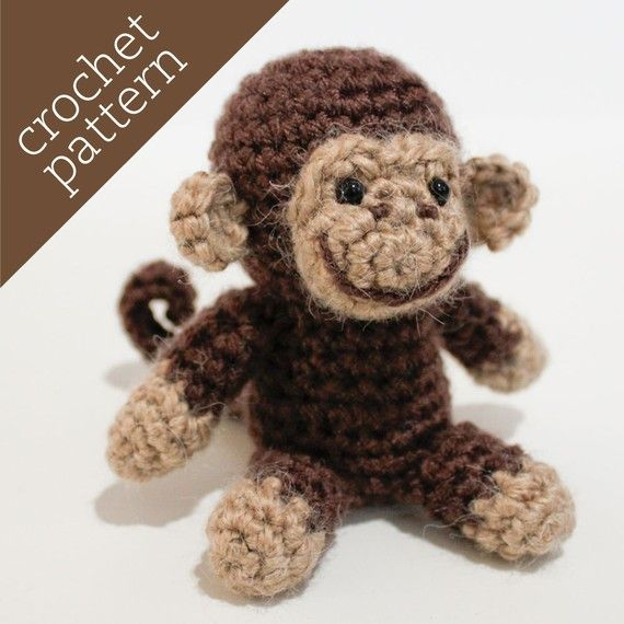 Free Pattern Crochet Monkey : CROCHET PATTERN PDF - Amigurumi - Spunky Monkey Pal