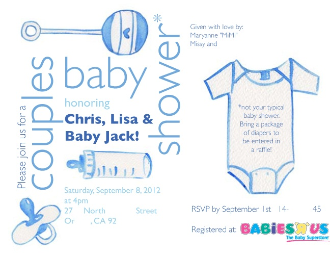co ed baby shower invitation i designed baby shower pinterest