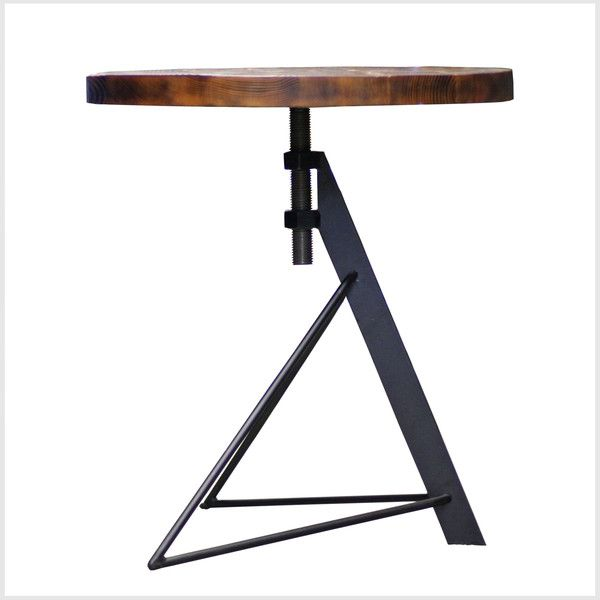 Round Wooden Tripod Table