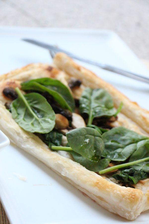 Mushroom and Spinach Tart   Vegan   Modern Day Missus
