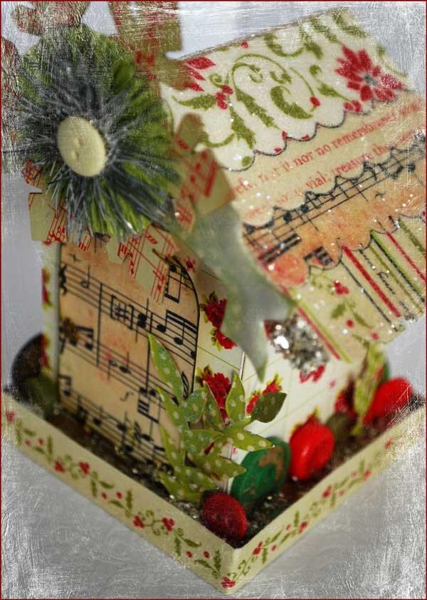 Vintage paper gingerbread house. | Christmas Ideas | Pinterest