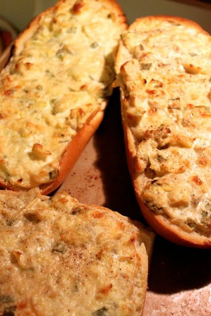 The Cottage Home: Baked Artichoke Bread | Recipe Board | Pinterest