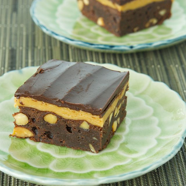 Peanut Butter And Fudge Brownies With Salted Peanuts Recipe ...