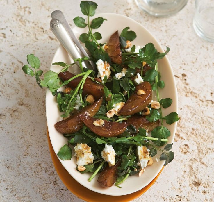 ... feta salad with feta roasted pear feta watercress and hazelnut salad
