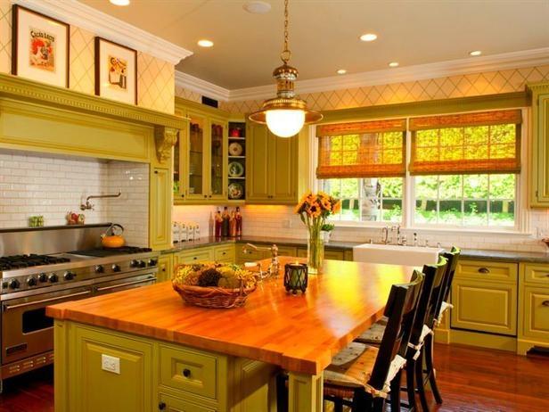 Green Farmhouse Kitchen  Farm House  Pinterest