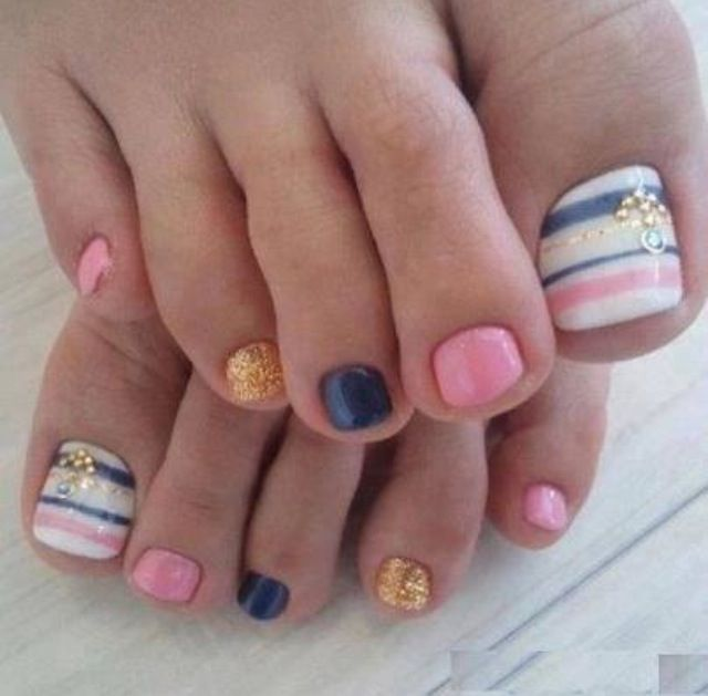 like these toe nail designs and color sweety