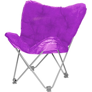 Your zone lux shag butterfly chair multiple colors in racy pink