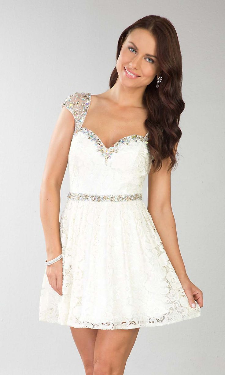 White Lace Prom Dress Pinterest 40