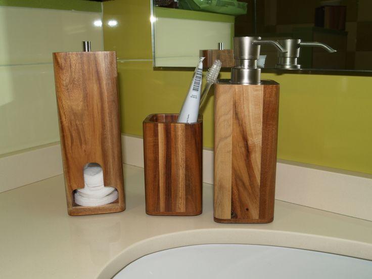 Accesorios De Baño Delta:Accesorios de baño de madera