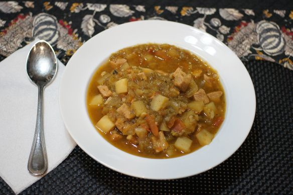 Green Chile Stew -- crockpot | Slow Cooker Meals | Pinterest