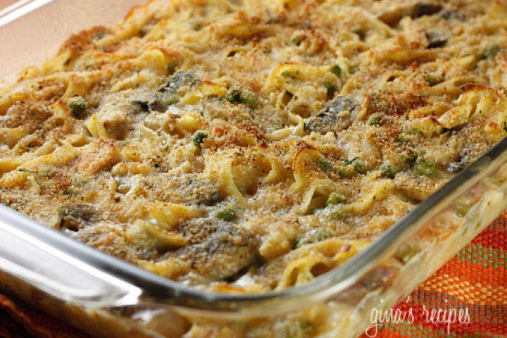 Skinny Tuna Noodle Casserole Recipe   Recipes   Pinterest