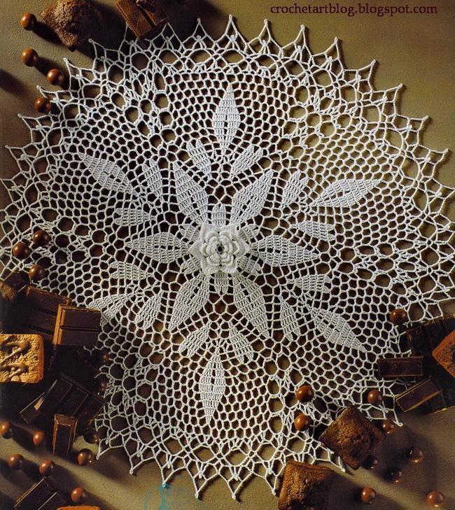 Free Crochet Flower Doily Pattern