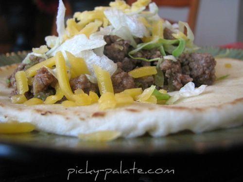 Crock Pot Beef Tacos in Soft Tortilla Bread...