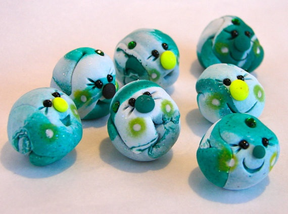 SAINT PATRICK'S DAY Edition Polymer Clay Pet Rock  by KatersAcres