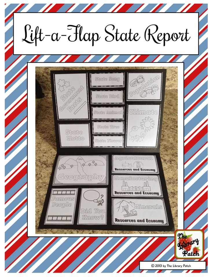 state report booklet This collection is full of state project ideas from state reports to attractions in their state we create a small booklet for this with state projects.