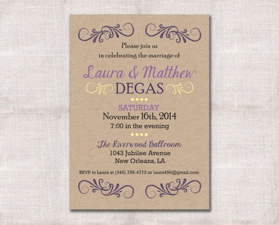 wedding reception celebration after party invitation custom printab