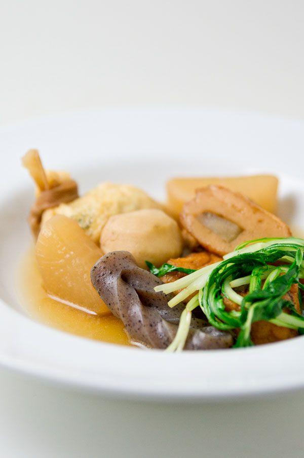 Japanese Cuisine: Oden [Boiled egg, daikon (radish), konnyaku (devil's ...