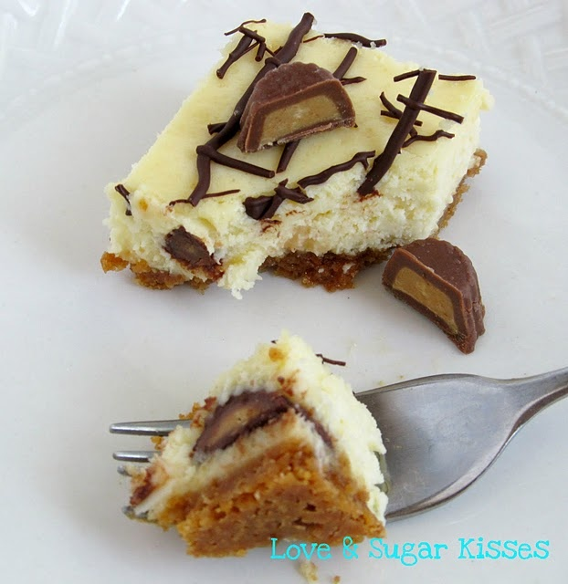 Peanut Butter Cup Cheesecake Bars | Bar Yummies for Our Tummies | Pin ...