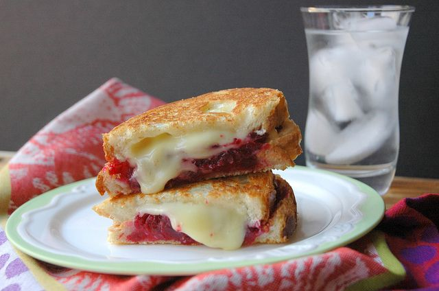 Cranberry Brie Grilled Cheese This sandwich is amazing. Check out this ...