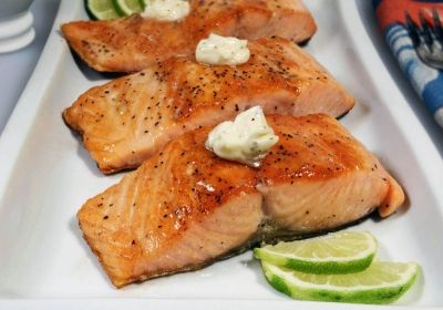 Grilled Salmon With Habanero-Lime Butter Recipes — Dishmaps
