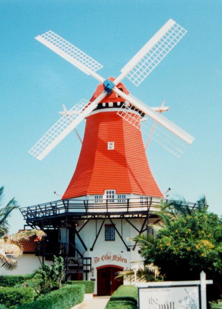 Aruba Old Dutch Windmill | Netherlands Antilles archipelago/ Aruba, B ...