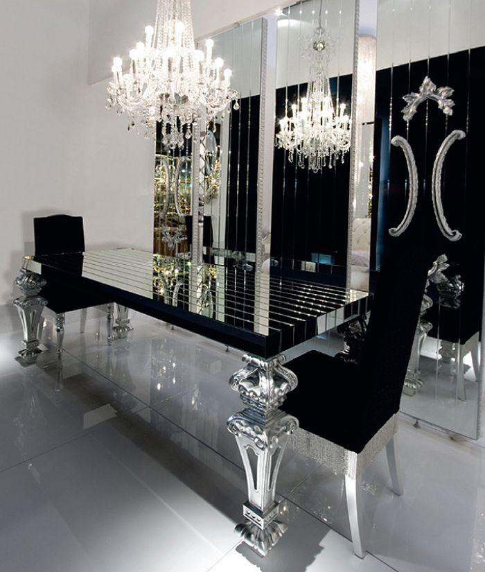 black mirrored dining room table designs i like pinterest