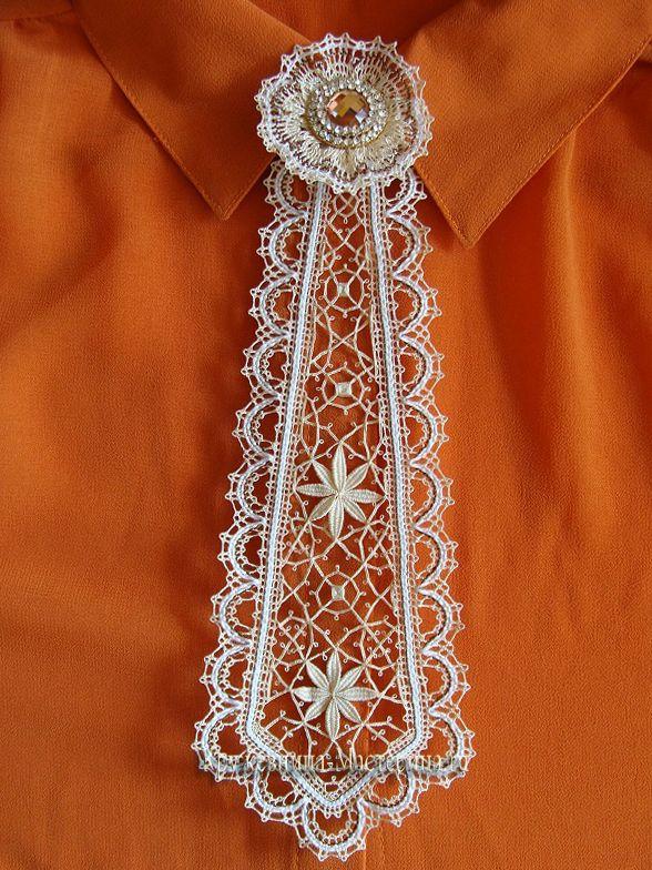 Сколки для кружева галстук