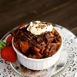 Chocolate Chunk Bread Pudding | Shit I Wanna Cook | Pinterest
