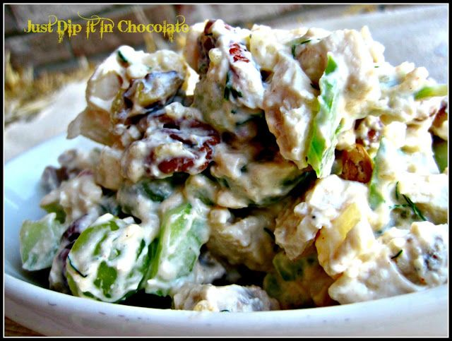 ... In Chocolate: Chicken Pecan and Pear Salad Recipe with Yogurt Dressing