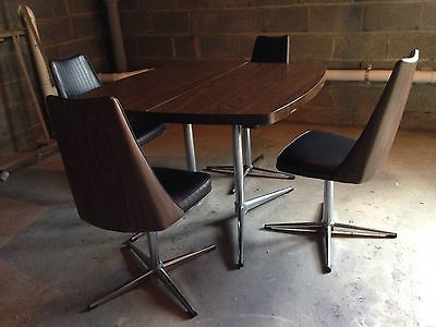 Funky 1970s Dinette Dining Room Table And Chairs Mid