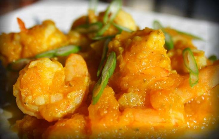 ... cooked the curried shrimp is added back to finish off the dish