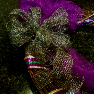 Mardi Gras wreath bow, wired ribbon from Mardi Gras crafts for $5.99