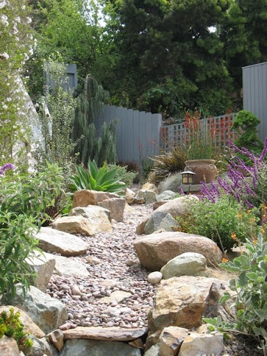 dry riverbed yards scape ideas pinterest