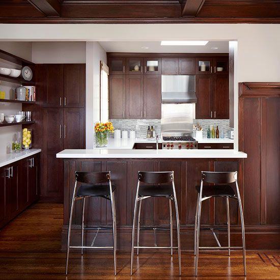 A contemporary small kitchen makeover for Small kitchen makeovers