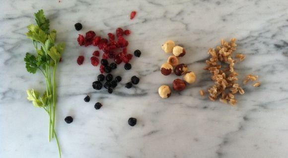 Farro, Hazelnut, and Cranberry Salad | EAT | Pinterest