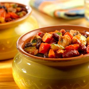 Two Bean Vegetable Chili | Recipe