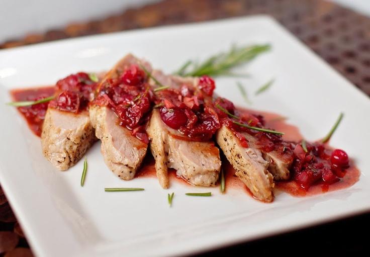 Marriage Factory: Pork Tenderloin with Balsamic Cranberry Sauce