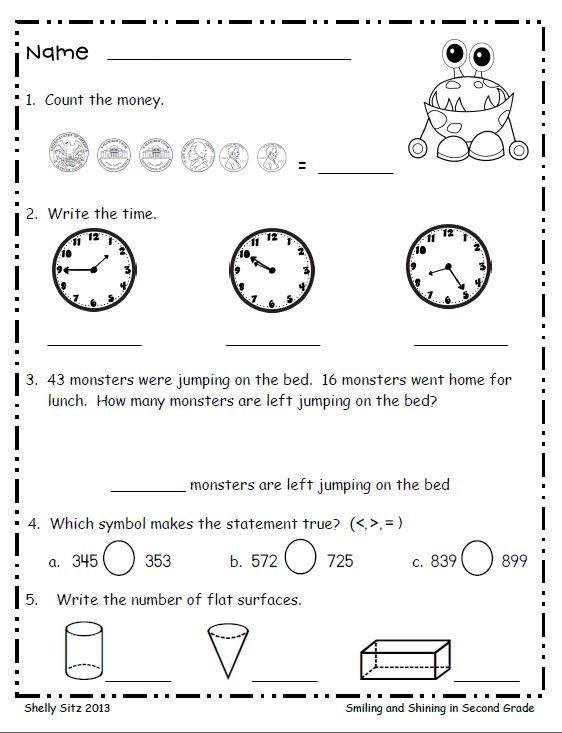 for Second Grade is ideal to use for morning warm-up work, homework ...