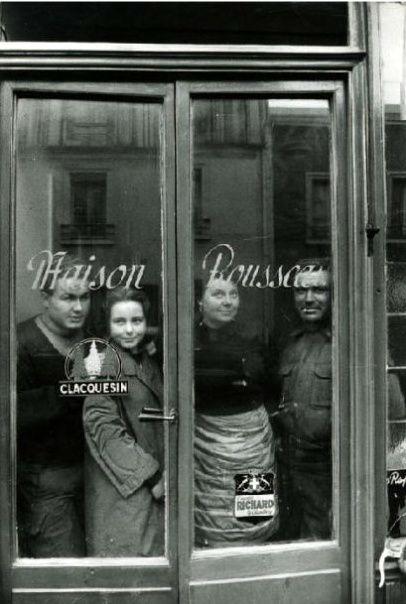 Paris 1950 Maison Rousseau by Izis Bidermanas