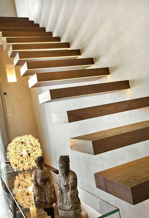 Escaleras en Casas Contemporáneas